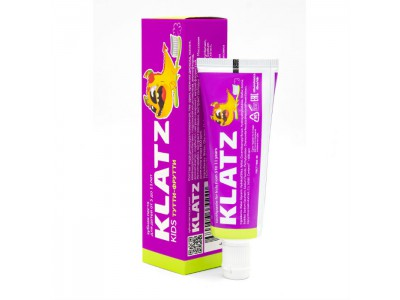 Klatz Kids Зубная паста для детей Тутти-фрутти, 40 мл