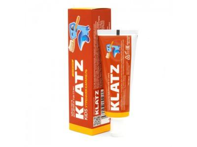 Klatz Kids Зубная паста для детей Утренняя карамель без фтора, 40 мл