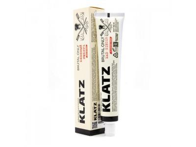 Klatz Brutal Only Зубная паста для мужчин Бешеный имбирь без фтора, 75 мл