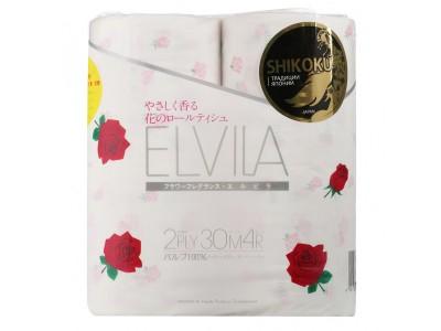 Shikoku Парфюмированная туалетная бумага Elvila 4рул. 2-х сл.