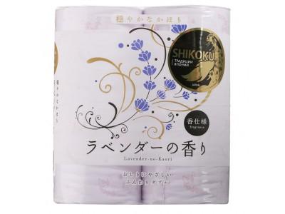 Shikoku Парфюмированная туалетная бумага Lavender 4рул. 2-х сл.