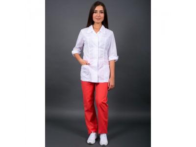 Блуза женская классик, белый