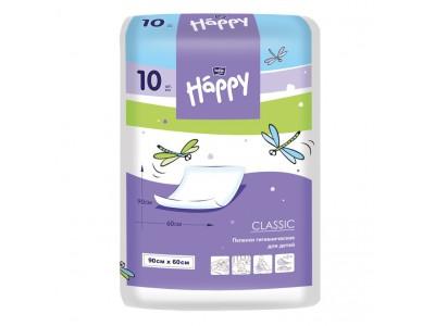 Пеленки для детей bella baby Happy classic, 90x60 см, (10 шт.)