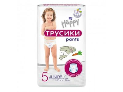 Подгузники-трусики Bella Baby Happy Junior 11-18 кг, (10 шт.)