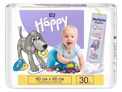 Пеленки для детей bella baby Happy, 60x60 см, (30 шт.)