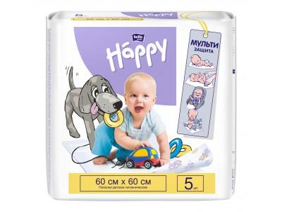 Пеленки для детей bella baby Happy, 60x60 см, (5 шт.)