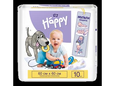 Пеленки для детей bella baby Happy, 60x60 см, (10 шт.)