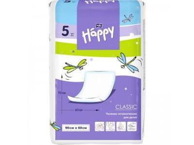 Пеленки для детей bella baby Happy classic, 90x60 см, (5 шт.)