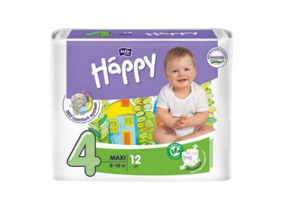 Подгузники Bella Baby Happy 4 maxi 8-18 кг, (12 шт.)