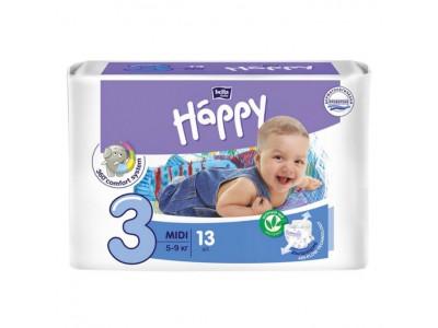 Подгузники Bella Baby Happy 3 midi 5-9 кг, (13 шт.)