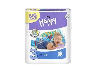 Подгузники Bella Baby Happy 3 midi 5-9 кг, (72 шт.)
