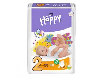 Подгузники Bella Baby Happy 2 mini 3-6 кг, (38 шт.)