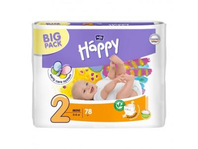 Подгузники Bella Baby Happy 2 mini 3-6 кг, (78 шт.)