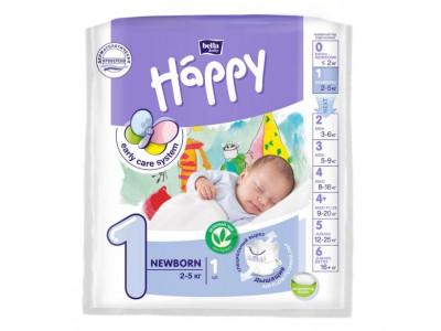 Подгузники Bella Baby Happy 1 Newborn 2-5 кг, (1 шт.)