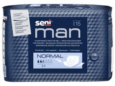 Урологические прокладки Seni Man Normal (15 шт.)- 2,5 капли