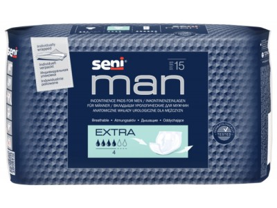 Урологические прокладки Seni Man Extra (15 шт.)- 4 капли