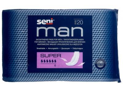 Урологические прокладки Seni Man Super  (20 шт.) - 6 капель