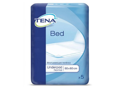 Пеленки Tena Underpad Normal, 60x60 см, (5 шт.)