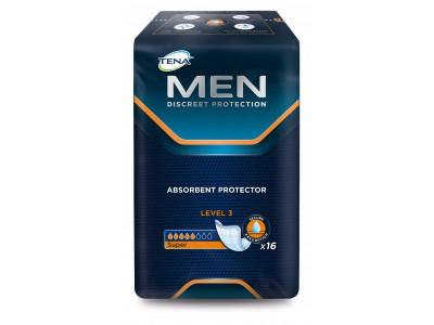Урологические прокладки TENA Men Super Level 3 (16 шт.)- 5 капель